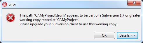 Subversion Upgrade Error in C++Builder XE2