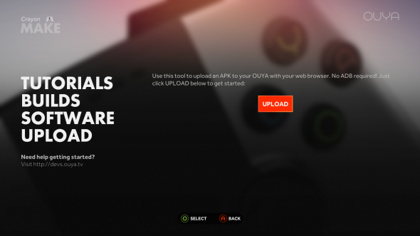 OUYA Upload APK