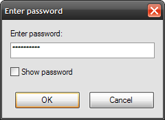 7-Zip Enter password window