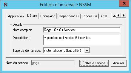 NSSM Details
